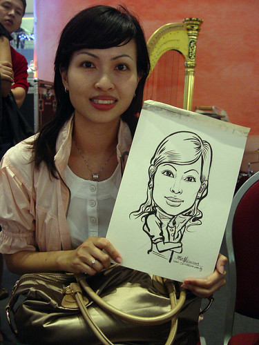 Caricature live sketching for Marina Square X'mas Tenants Gathering 2009 - 7