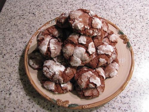 Chocolate Mint Snowtop Cookies