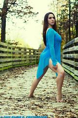 Dancers - Ashton - Stance (BlazinBajan) Tags: wood bridge blue trees woman feet nature beautiful leaves ga pose hair georgia outside outdoors dance woods long pretty natural body tattoos mbp powdersprings majorbphotography