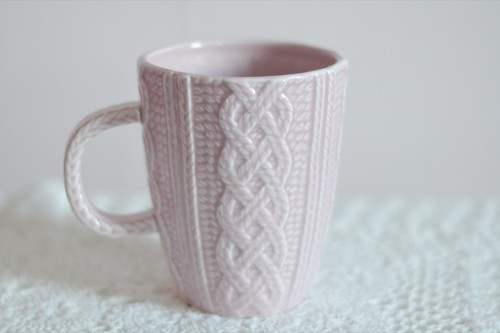 My sweet little knitted mug.