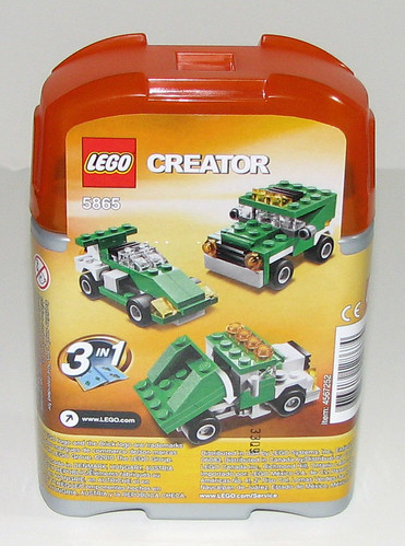 LEGO 2010 Creator 5865 Mini Dumper - Instructions - Package Back