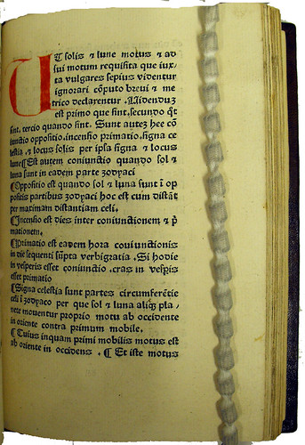 Coloured initial and paragraph marks in Johannes de Erfordia: Computus chirometralis