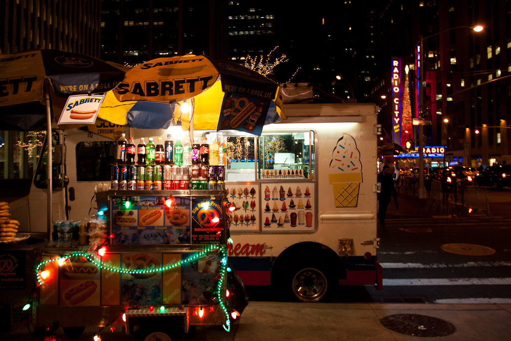 Festive Hot Dog Vendors