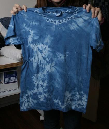 indigo tshirt girlscouts shibori