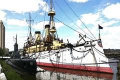 USS Becuna and USS Olympia (THoog) Tags: philadelphia pennsylvania submarine pennslanding postprocessing ussolympia ussbecuna thoog