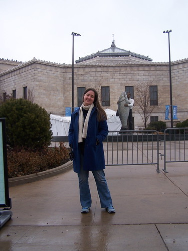 In front of Shedd aquarium