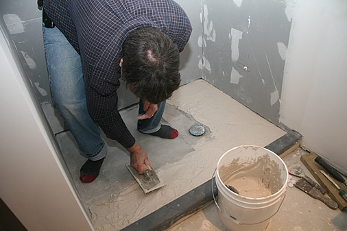 How to Lay Bathroom Floor Tile | eHow.com
