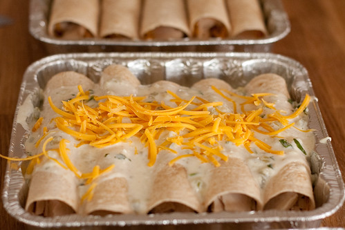 Chicken Enchiladas for the freezer