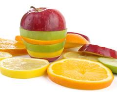 Fruit slices (angel00) Tags: lighting red food orange green apple yellow fruit pepper still lemon healthy shiny pentax eating alma flash objects studioshot lime tamron paprika softbox piros zöld sárga narancs gyümölcs tamron1750 vaku citrom pentaxk10d mikrosat egészség studiflash