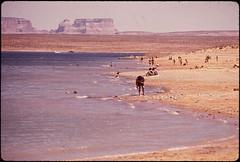Beach Activity on Lake Powell (The U.S. National Archives) Tags: arizona lake beach powell lakepowell environmentalprotectionagency beachgoers documerica usnationalarchives nara:arcid=544377
