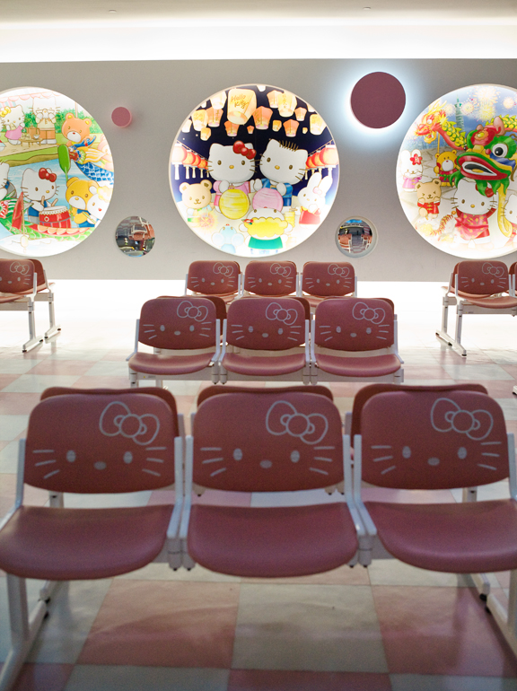 Hello Kitty Hotel In Taiwan. Hello Kitty Lounge Taoyuan