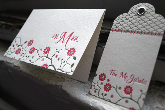 Letterpress Social Stationery from Smock