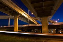 Entangled (Jon Asay ) Tags: bridge night oregon portland long exposure traffic i5 fremont rush hour freeway commute i405