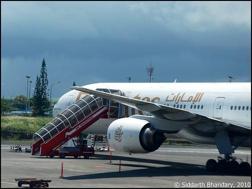 Emirates Boeing 777 in Mauritius
