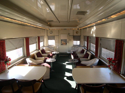 Private Rail Car - Vista Canyon,  Lounge facing Rear