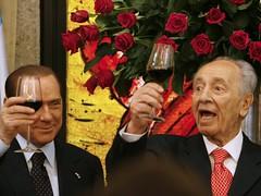 Silvio Berlusconi e Abu Mazen