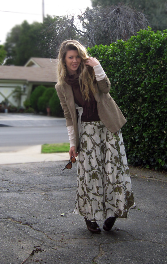 long skirt and blazer-2