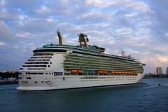 Royal Caribbean - Navigator of the Seas (Mona Hura) Tags: life county sky water clouds port boats bay boat ship florida miami royal caribbean royalcaribbean navigator seas biscayne dade navigatoroftheseas 7380