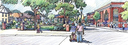 conceptual rendering of HUD HOPE VI development in Louisville (by: Metro Housing Authority)