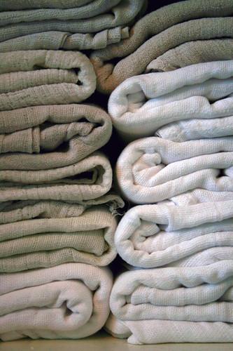 Pile of gauzes