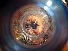 La vita in fondo a una bottiglia (Il cantore) Tags: eye circle bottle hole plastic buco occhio interno cerchio internal bottiglia plastica 15challengeswinner canoniani bokehmacrofriends
