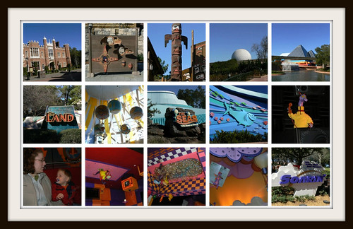 Walking through Epcot to Nemo, The Land and to see Figment