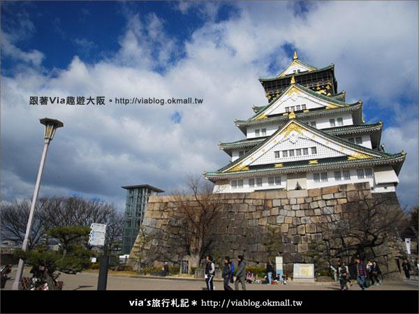 【via關西冬遊記】大阪城天守閣!冬季限定:梅園梅花盛開30