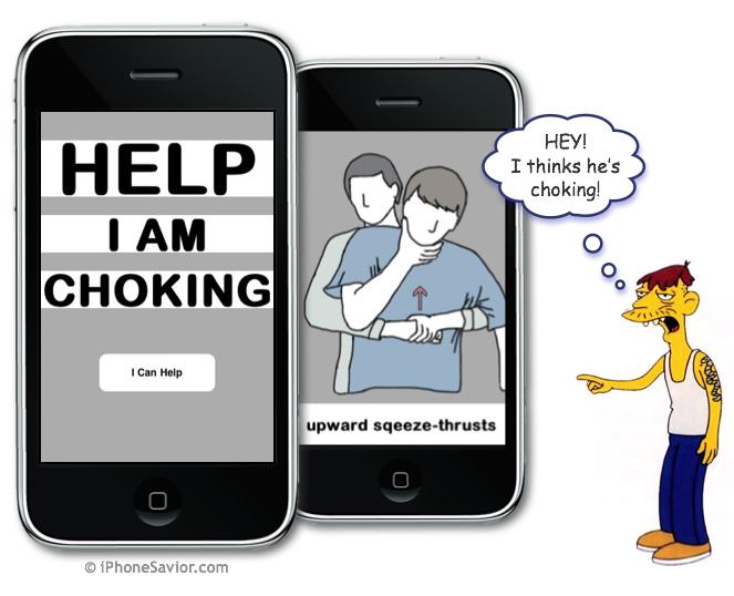 I Am Choking iPhone App (free)
