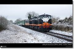 The RPSI 'Diesel Do' (bbusschots) Tags: ireland winter panorama snow train gm diesel pano rail railway loco locomotive 141 142 irishrail kildare cie rpsi b142 panoramiccrop iarnródéireann class141 córasiompairéireann killcock b141 dieseldo classb141