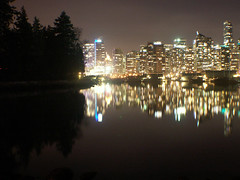90 (M.Bohm Photography) Tags: ocean show park city longexposure winter light sea canada reflection tower english beach water skyline night vancouver forest buildings bay downtown bc waterfront apartment display centre columbia lookout canadian stanley convention british olympics metropolitan 2010