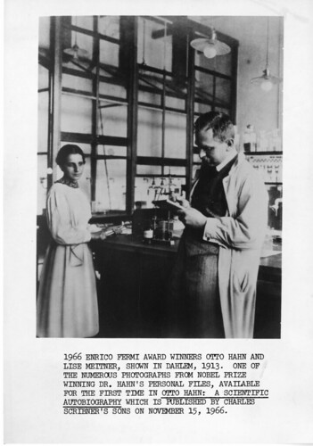 Lise Meitner (1878-1968) and Otto Hahn (1879-1968), Dahlem, Germany, 1913, by Science Service, Black