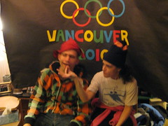 02.18.10 Otto and KVL Snowboarder Kiss and Cry (Leopard Girl) Tags: vancouver olympics 2010 kissandcry 021810