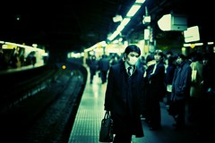 Station life (motionid) Tags: color film japan 35mm lens photography 50mm tokyo shinjuku streetphotography rangefinder c41 streetsnap voigtlanderbessar2a