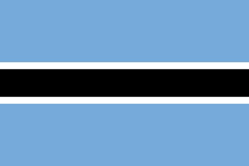 africa flag botswana bandeiras
