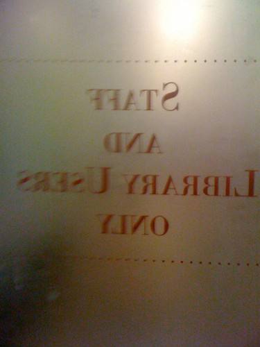 Smithsonian Libraries golden doors