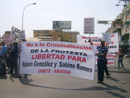 Libertad para Sabino y Rubén, Maracay, 12 de marzo