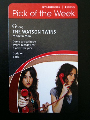 Starbucks iTunes Pick of Week - The Watson Twins - Modern Man #fb