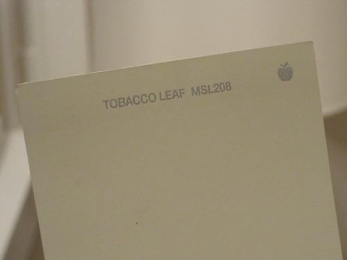 Good-bye Swine, Hello Tobacco Leaf.