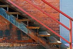 Stairway (of love) (ramagrrl) Tags: blue orange delete10 architecture delete9 delete5 delete2 rust delete6 delete7 bricks delete8 delete3 delete delete4 save stairway deletedbydeletemeuncensored f64g18r1win