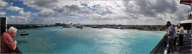 A panoramic in the bahamas