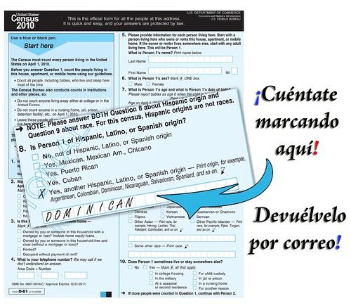 Dominicano Hazte contar en el Census 2010