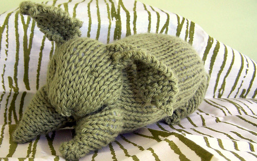 Knitted Rabbit, Waldorf Toy
