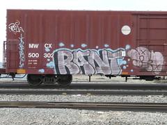 Rant (graffluvr) Tags: art minnesota train graffiti graf cities minneapolis twin trains mpls tc twincities graff aerosol mn freight aerosolart rant graffitiart 612 freighttrain fr8 benched benching freighttraingraffiti