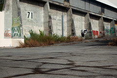 (Seb.tec) Tags: abandoned grass wall concrete floor 71 cracked larunion emptyspace topography leport riviredesgalets