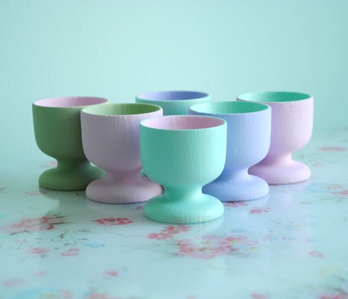 Hand painted egg cups