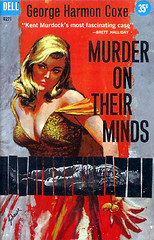 Murder on Their Minds (Dell D271) 1959 AUTHOR: George Harmon Coxe ARTIST: Harry Schaare (Hang Fire Books) Tags: mystery noir pulpfiction hardboiled goodgirlart gga vintagepaperbacks