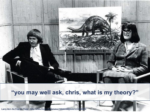 you may well ask, chris, what is my theory?
