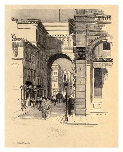 001- Via Strozzi-Florence  a sketch book (1914)- Richards Fred