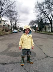 Boy in the road (J.F MPLS) Tags: color 120 film mediumformat minneapolis mamiya645 kodakportra400nc