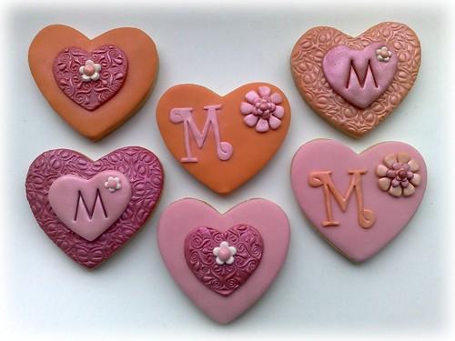Initial Heart Cookies